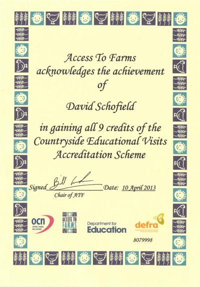 access to farms certificate